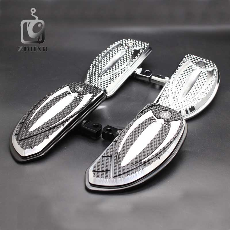 Motorcycle Accessories Black And Chrome Footrests Foot Pegs Front Rear For Harley Touring Sportster Softail Dyna