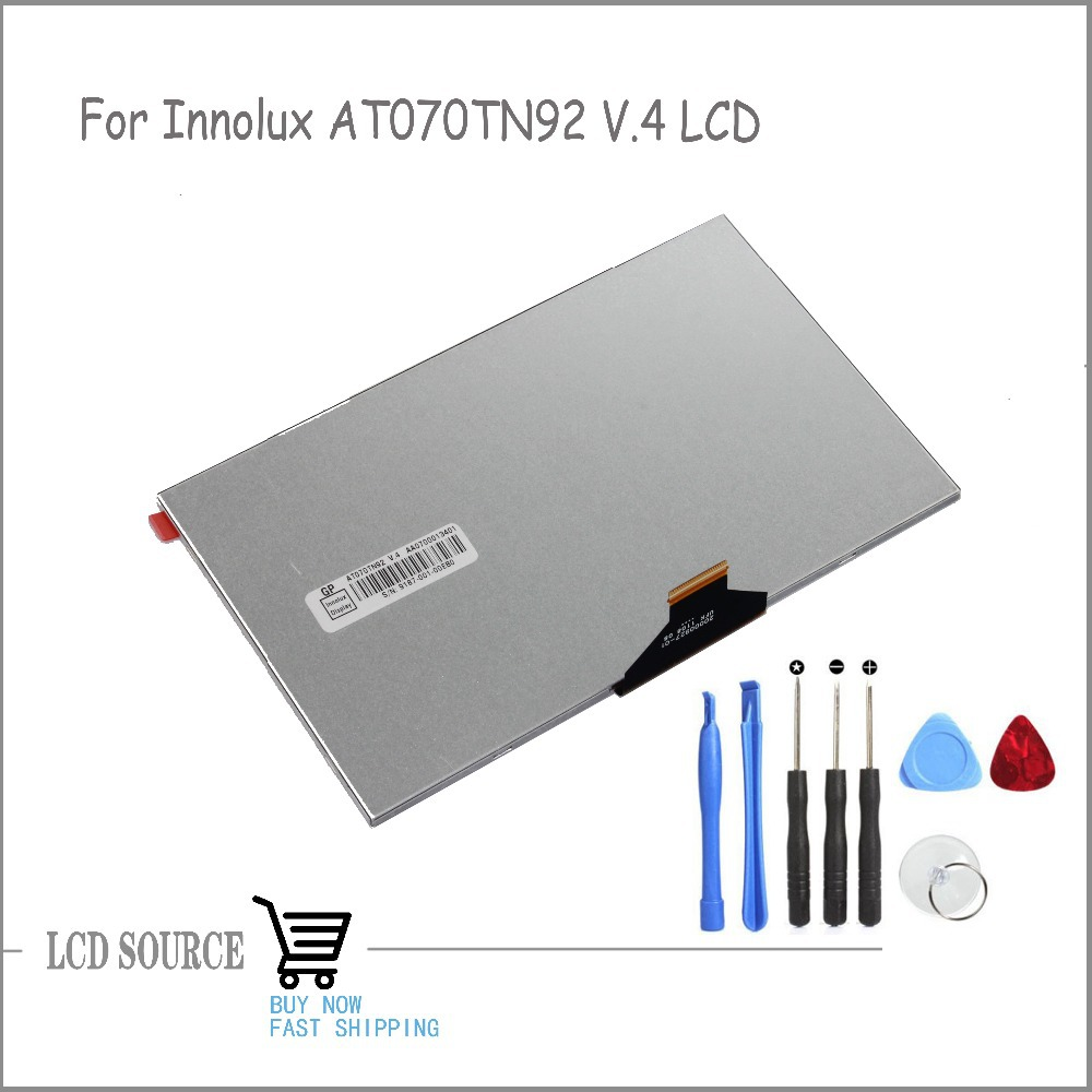 OEM 5 Inch For Innolux AT070TN92 V.4 20000927-01 LCD Display TFT LCD Module Glass Replacement Parts Free Tools