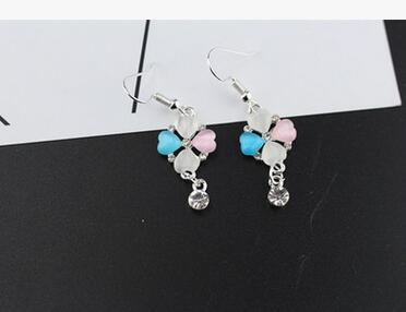 wholesale Mens Trendy Flower Statement -back Stud Earrings for & Girls Crystal Penda for ...