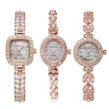 Royal Crown Lady Womens Watch Japan Quartz Jewelry Hours Fine Fashion Clock Claw setting Crystal Bracelet Luxury Girl Gift