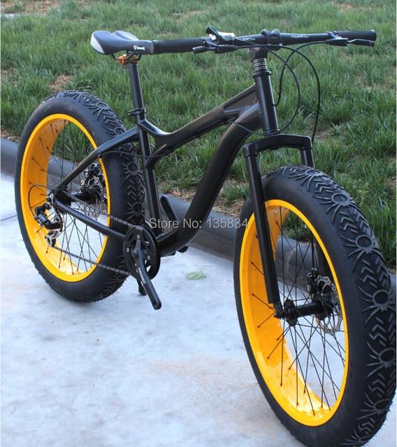 Bicicleta 26x 4 0 Super Wide Flat Tire Bicycle Ciclismo