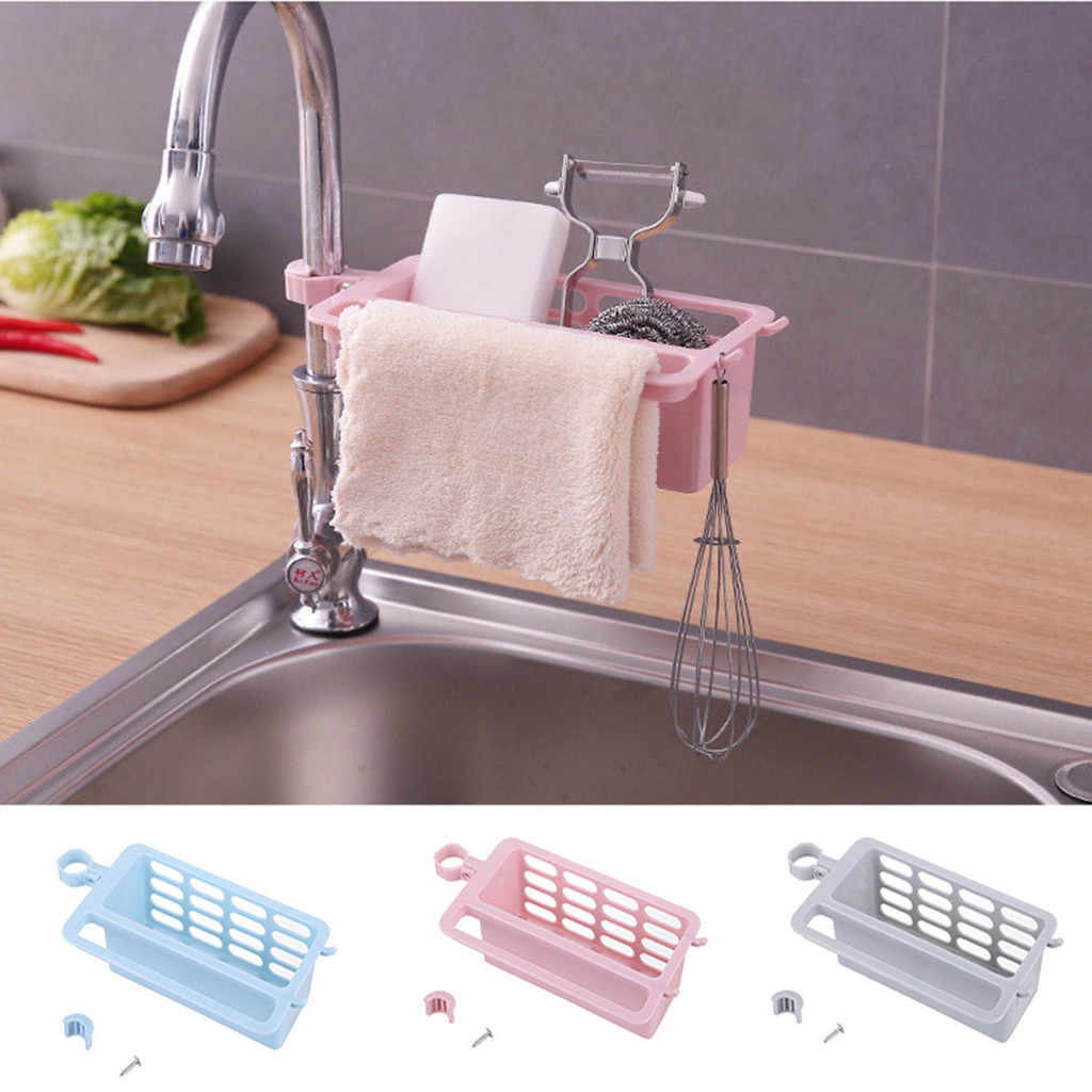 Kitchen Drainage Shelf Multifunctional Dishwashing Sponge Storage Rack sink holder kitchen organizer