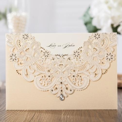 Aliexpress.com : Buy WISHMADE Laser Cut Wedding Invitation