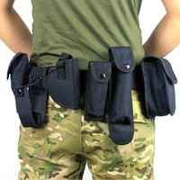 Outdoor 10 IN 1 Camping Multi Function Nylon Tactical Military Belt With Tool Bag Pouch For