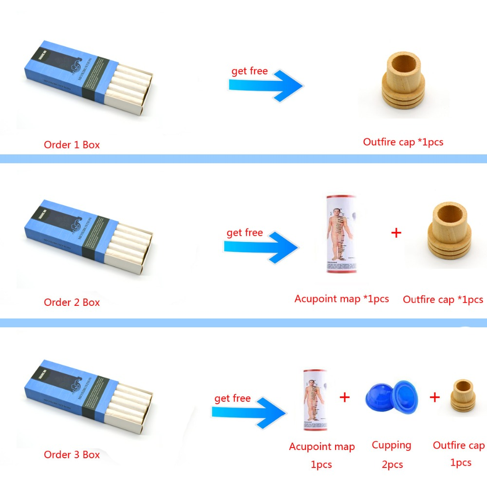 Купить с кэшбэком SHARE HO 50:1 Long Pure Moxa Stick Chinese Moxibustion Acupuncture Point Heating Therapy 10 years Old Gold Moxa Rolls 10pcs