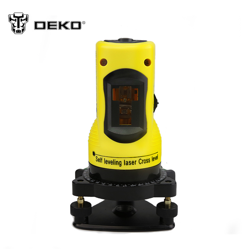 DEKOPRO New Professional 2lines laser level 360 rotary cross laser line leveling can be used with outdoor receiver 1pc laser cast line machine multifunction laser line cross line laser rotary laser level 360 selfing leveling 5 line 4v1h3 point