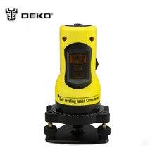 Dekopro Новый профессиональный 2 линии лазерный уровень 360 Поворотный Крест лазерной линии выравнивания может использоваться с Открытый приемник