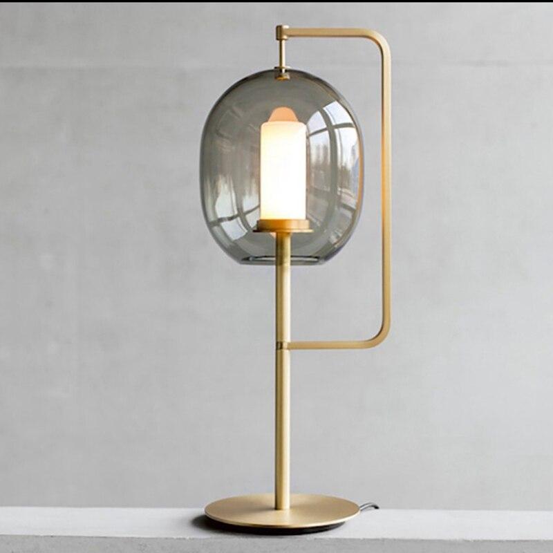 Современный стеклянный стол, металлический Настольный светильник для спальни, светильники, настольные лампы, гостиная, золотой, черный, настольная лампа, домашние настольные лампы AL101 - 2