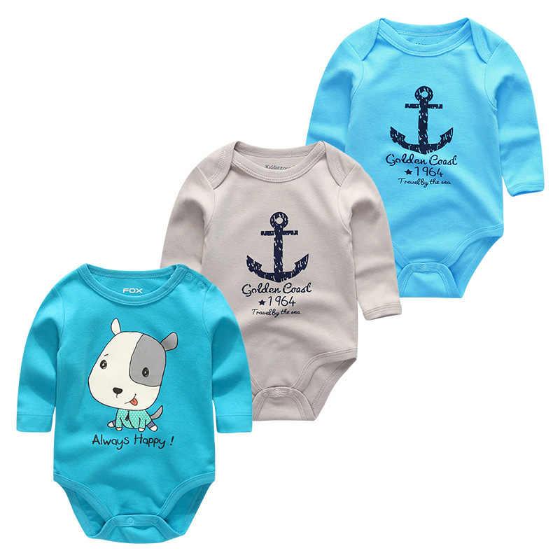 Freies Verschiffen 100% Baumwolle 3 6 9 12 18 24 Monate Runde Kragen Streifen Langen Ärmeln Jungen Und Mädchen Kleidung body Baby Kleidung