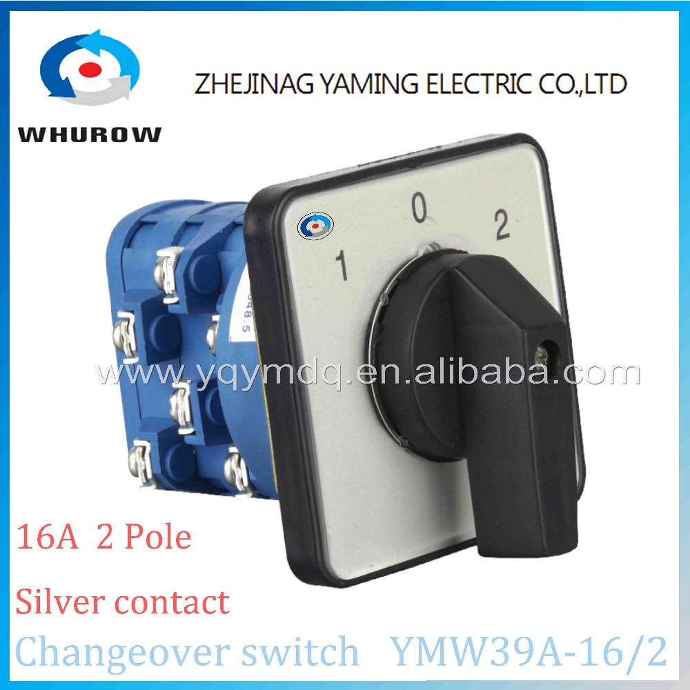 New type Rotary switch 3 postion LW39A-16/2 manually transfer changeover switch 16A 2 poles blue high quality sliver contacts rotary switch ymz12 25 4 changeover cam combination switch 4 poles 8 positions 14 terminals 25a ui 690v sliver point contacts