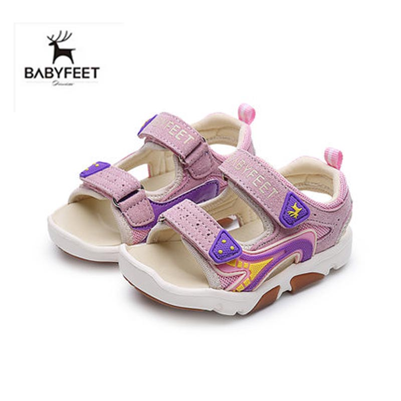 Babyfeet Summer Baby Boy Sandals Soft Sole Infant Toddler Beach Open toe Breathable Light Cool Flat Shoes High Quality Hot Sale 2017 toddler infant baby boy shoes navy blue casual newborn boys sneaker soft sole girls shoes tenis menino