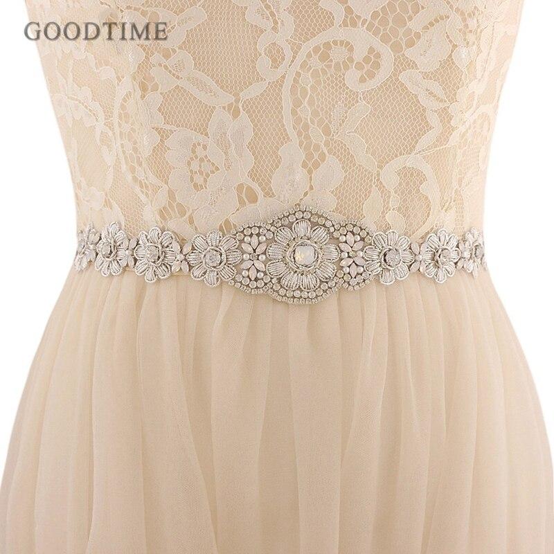 Elegant Wedding Sash Bridal Belts Crystal Pearls Beaded Flowers Wedding Belts Girdle Lady Accessories For Party