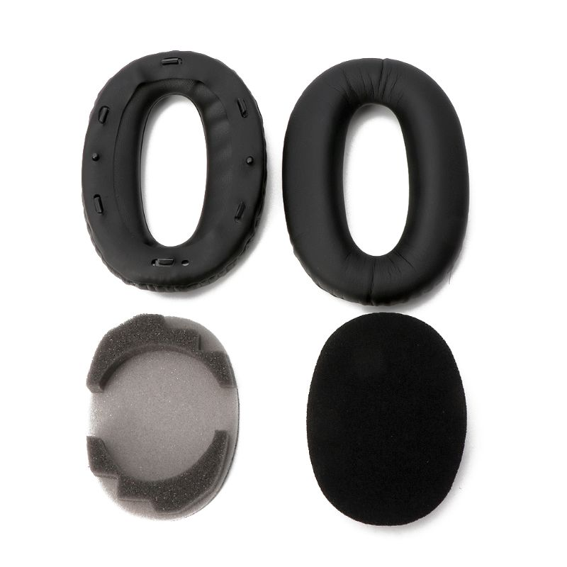 Soft comfortable Protein Leather Replacement Ear Pads Ear Cushion For sony <font><b>MDR</b></font>-<font><b>1000X</b></font> <font><b>MDR</b></font> <font><b>1000X</b></font> WH-1000XM2 Headphones image