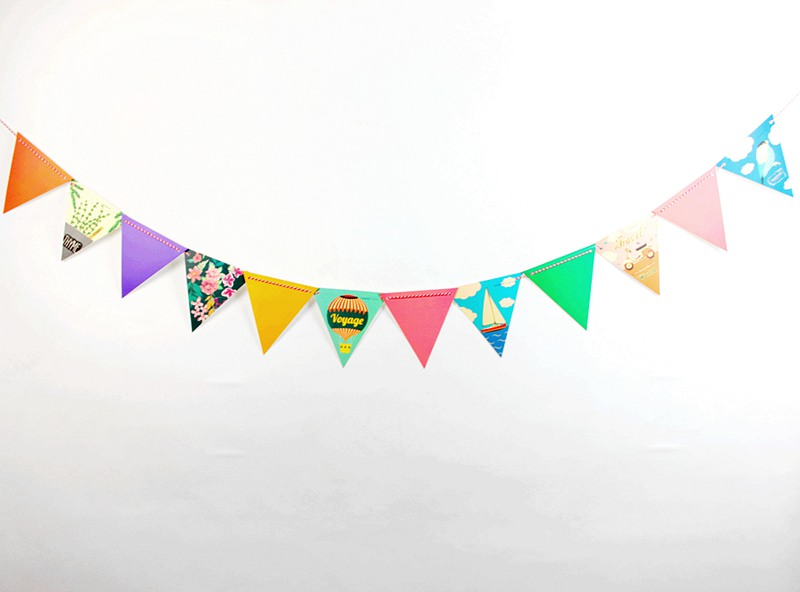 2.5m Holiday Pennant Party Decorations Outdoor Triangular Flags ...