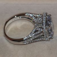 Size 5 11 Pave Setting Wholesale Jewelry 192pcs White Sapphire 14kt Gold Filled Wedding Simulated Diamond
