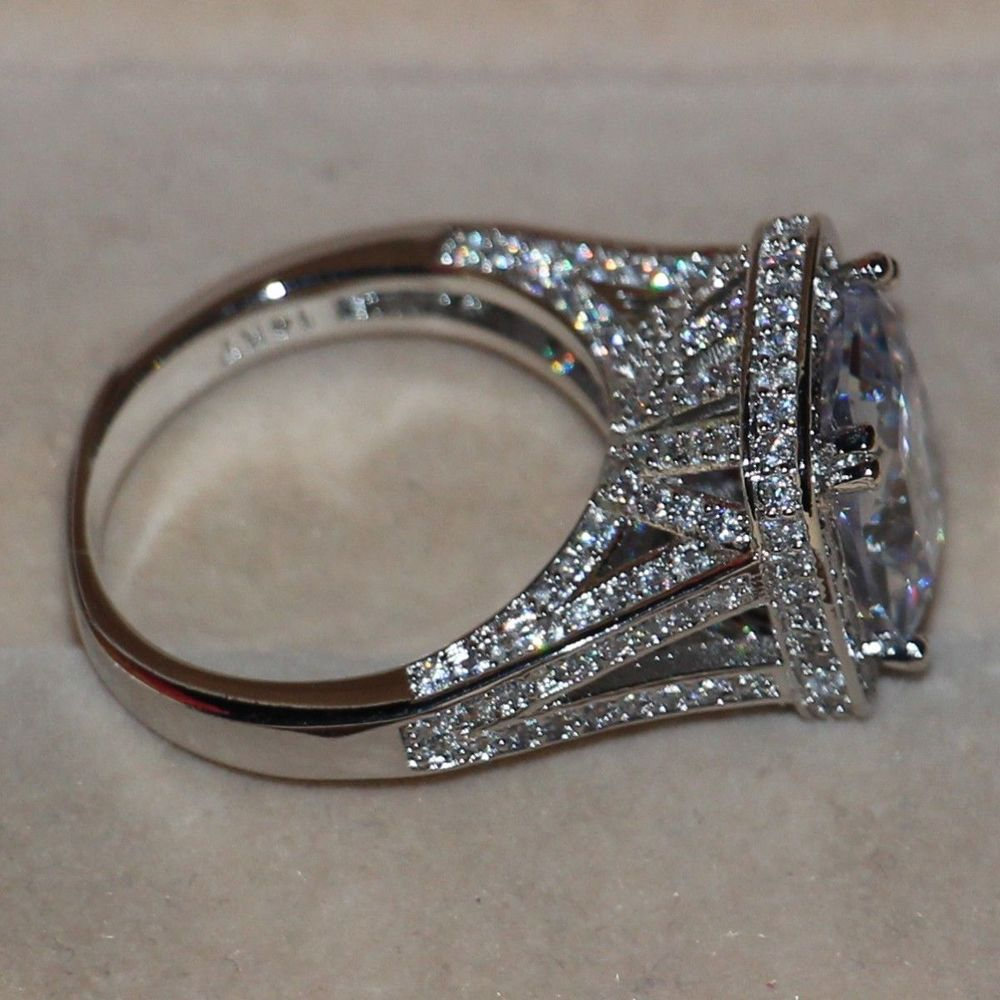 diamond wedding white look band vintage pave fancy ring gold pin bands milgrain