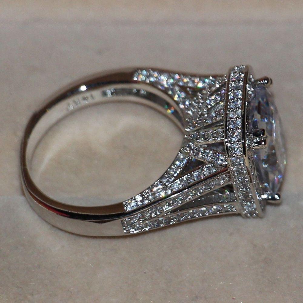 Sz5-11 pavent Bijoux En Gros 192 pcs blanc 5A CZ Zircon 14kt or rempli De Mariage Simulé pierres Bague ensemble cadeau