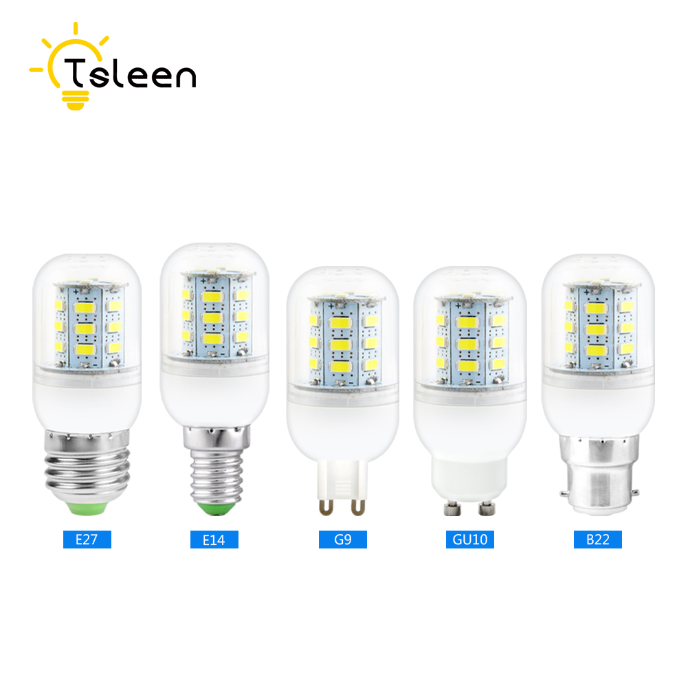Tsleen lampada led lamp e27 gu10 g9 e14 b22 ampoule corn for Lampada led e14
