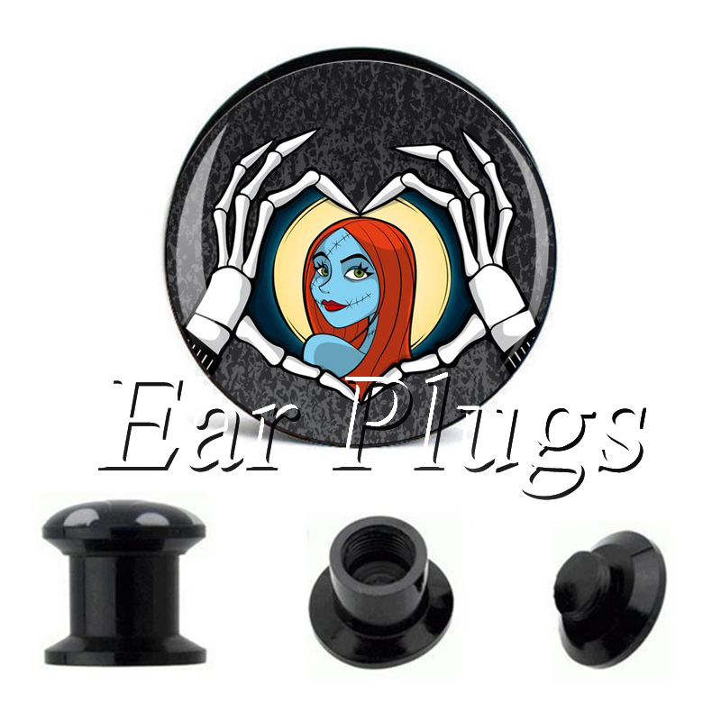 Wholesale Sally plug gauges acrylic screw ear plug flesh tunnel piercing body jewelry