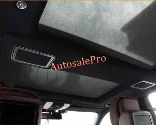 Garniture de couverture de miroir de maquillage de toit arrière en alliage d'aluminium 4 pièces pour Mercedes Benz classe E W212 2010 2011 2012 2013