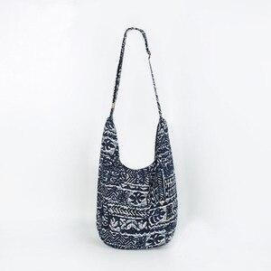 Image 4 - Bolso con correa ajustable para mujer y niña, bandoleras cruzadas de hombro Vintage, bolso bohemio Hippie tailandés, bolsos estilo Hipster