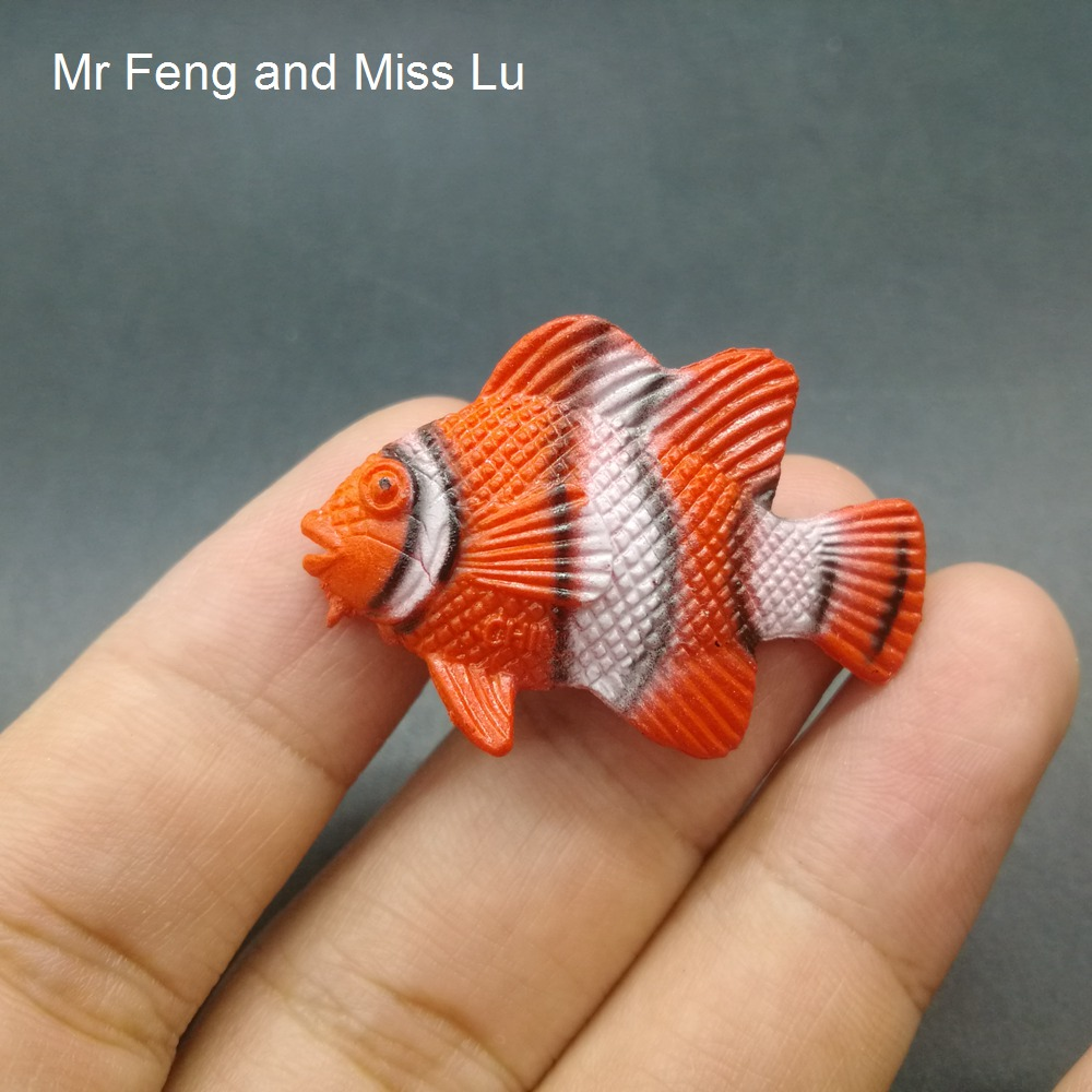 Orange Tropical Fish PVC Model Toy Novelty Gag Toys Gags Accessories Science Educational Model Toy