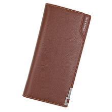 New Business Men wallets boys wallet long purse large male clutch leather card and coin holder mens money bag quality guarantee недорго, оригинальная цена