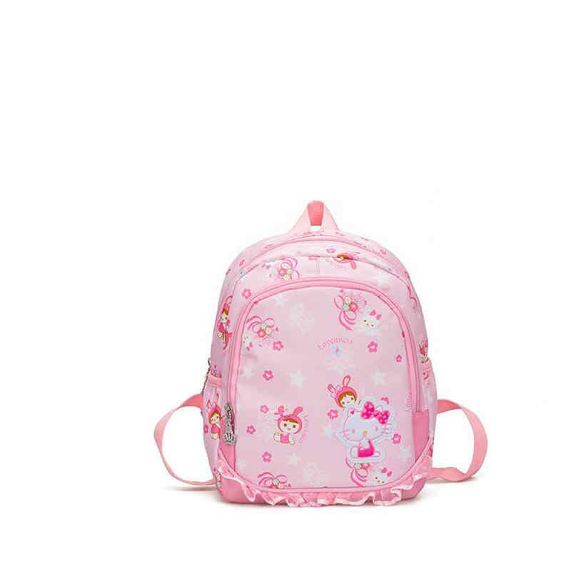 Fashion Children s school bag kindergarten backpacks girl 2-6 years old  baby Hello Kitty schoolbags 8a6143e245c50