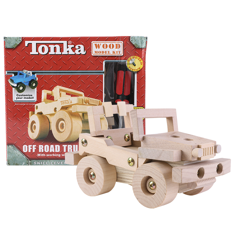 Inventive Tonka Screw Toys Wooden Toys For Children Wooden Disassembly Assembly Model Children's Educational Creative Diy Traffic Model Profit Small