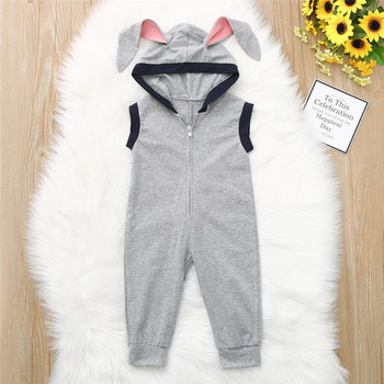 Baby clothes  Toddler Kid Baby Girl Boy Sleeveless Bunny Rabbit Easter Romper Jumpsuit Clothes 3M-24M babys A20