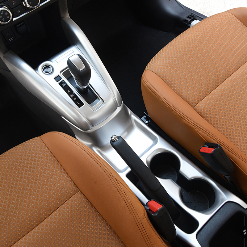 ABS matte Accessories Middle Car Gear Shift Box or Car Water Cup Holder Panel Cover Trim fit for Nissan Kicks 2016 2017 2018 montford car styling abs matte internal gear panel cover trim for mitsubishi outlander 2016 2017 only for left handed driving