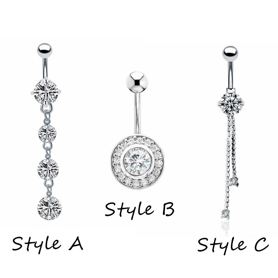 Купить 1 шт модные хирургические стальные пупковые кольца для пирсинга
