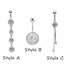 1pc Fashion Surgical Steel Silver Navel font b belly b font font b button b font