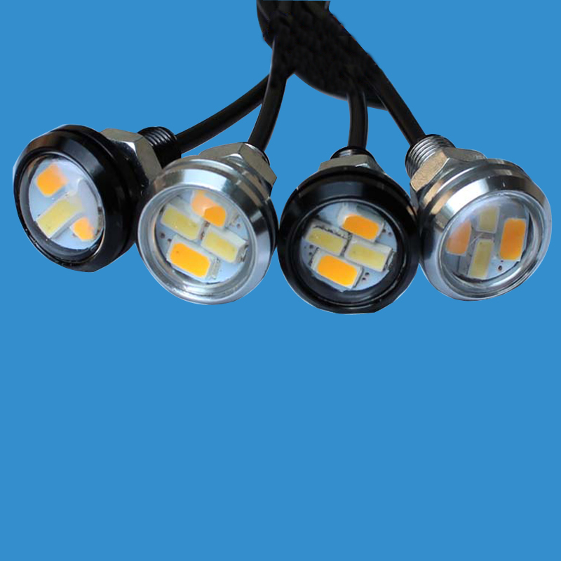LEADTOPS 10pcs 23mm Car styling LED DRL Eagle Eye Luces diurnas Luces - Luces del coche - foto 3