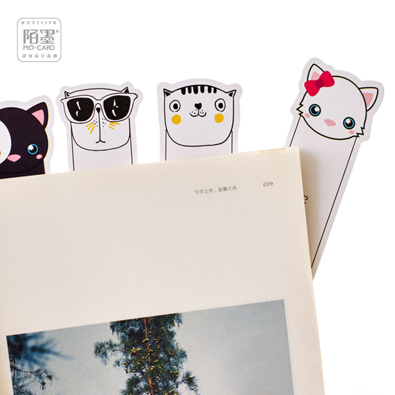 10 set/Lot Oh yeah Cats bookmark for book marker Memo note card Stationery office School supplies marcadores de livros F180 ...