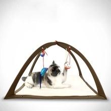 Pet складная палатка забавная игра Гамак Кошка игровая деятельность центр коллапс мат с 4 Висячие игрушечные мячи (случайный)