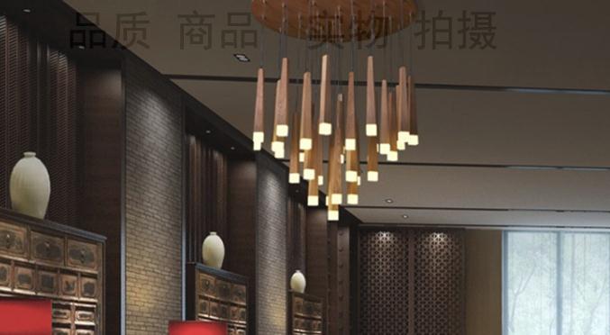 Designer matchstick led hout slaapkamer woonkamer kroonluchter
