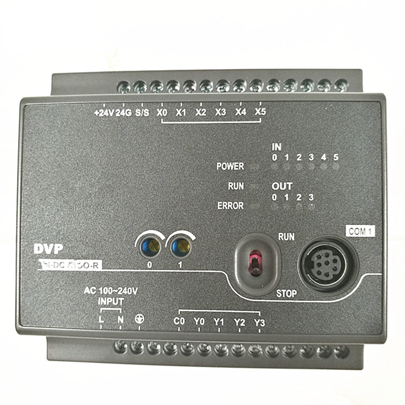 DVP16EC00T3 EC3 Series Standard PLC DI 8 DO 8 Transistor 100-240VAC new in box new original dvp24ec00t3 plc ec3 series 100 240vac 12di 12do transistor output