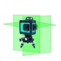 Новый LND 12 линия зеленый лазерный уровень 3D наклейки на стену автоматически лазерный провод метания инструмент