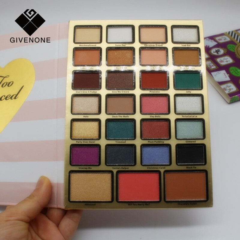 GIVENONE Brand Eye shadow 27 Color Eye Shadow Palette Professional Makeup Eye shadow long lasting Perfect Quality Glitter Eyesh the mountain shadow