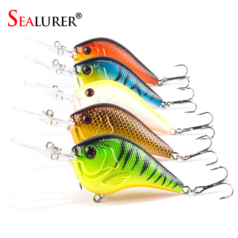 5PCS/Lot Fishing Lures Deep Swimming Crankbait 9.5cm 11.5g Hard Bait 5 Colors Available Tight Wobble Slow Floating Minnow Tackle