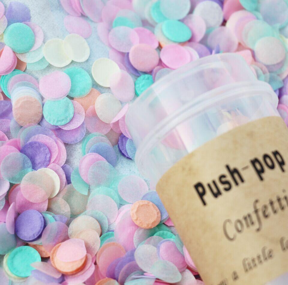 3700pcs 10mm Push Pop Confettti / Baby Shower / Birthday