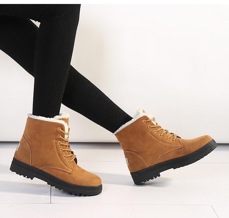 Women's High Heels Plush Winter Boots 14