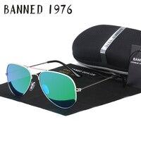 BANNED G15 Mirror Glass Lens Design Women Men Sunglasses Uv400 Feminin Brand New Aviation Oculos Sun