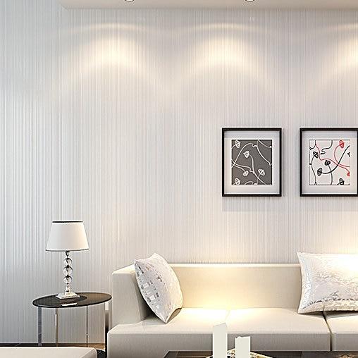 Modern Stripe White Wallpapers Embossed Wallpaper Decor Environmental For Living Room Sofa TV Backdrop Papel De