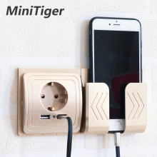 Minitiger Dual USB Socket Power Outlet Socket With EU Plug 2A Wall Charger Adapter Electric Wall Charger Adapter Charging USB(China)