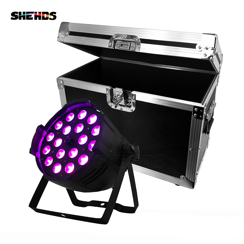 LED 18x18W RGBWA+UV Zoom Aluminum House Par Lights DJ Stage Effect For Clubs Theaters Churches Concert Productions And Lighting top selling led par 7x18w rgbwa uv 6in1 stage profession dmx 512 effect lighting power in out for clubs theaters nightclub