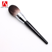 Professional Black Long Wood Handle Velvet Touch Feeling Synthetic Fiber 91 Large Pro Feather Weight Powder
