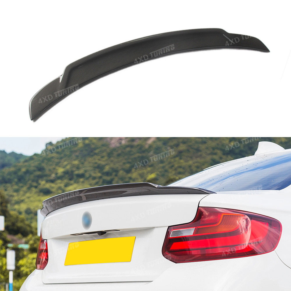 For BMW F22 F23 & M2 F87 Spoiler Exot Style 2 Series 218i 220i 228i M235 Carbon Fiber Rear Spoiler Rear Wing 2014 2015 2016 -UP f22 performance carbon fiber spoiler f23 f87 m2 wing rear trunk lip for bmw 2 series 2014 2016 2 door coupe m235i 218i 220i