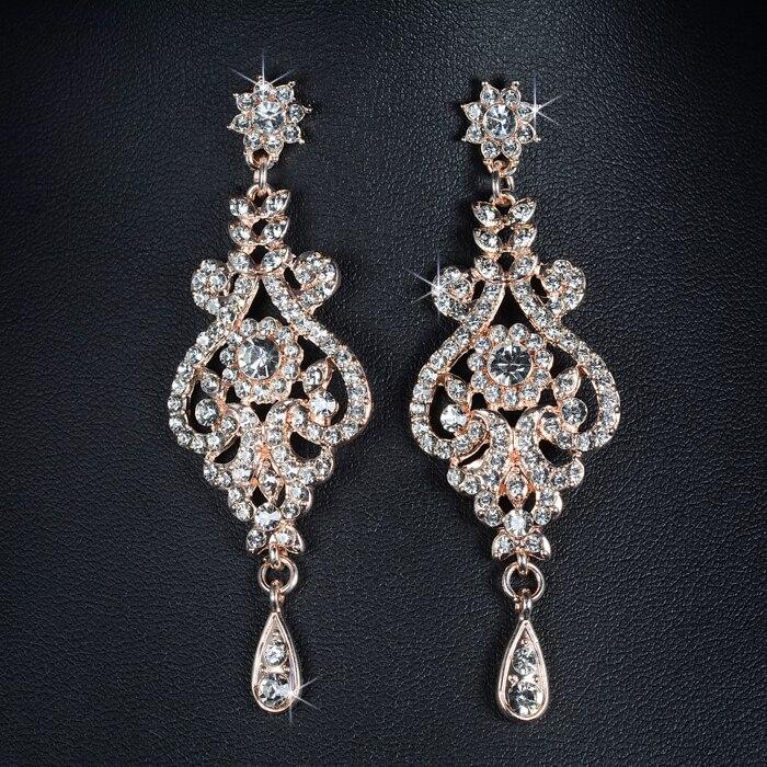 SLBRIDAL Nykomst Rose Gold Österrikiska Crystal Rhinestones Alloy - Märkessmycken - Foto 6